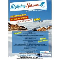 Super Promotion : ALPE D' HUEZ (20/01/18 au 27/01/18)